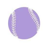 Purple Softball on White Fine-Art Print
