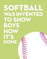 Softball Quote - White on Lime Fine-Art Print