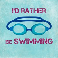 I'd Rather Be Swimming Fine-Art Print