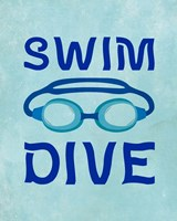 Swim Dive 1 Fine-Art Print