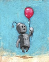 Robot With Red Balloon Fine-Art Print