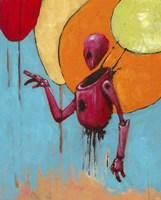 Red Junk Robot Fine-Art Print