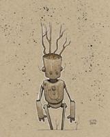 Ink Marker Bot Tree Bot Fine-Art Print