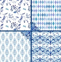 Blue Patterns Fine-Art Print