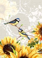 Sunflower Birds II Fine-Art Print