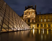 Ornate Glass and Masonry at the Louvre Fine-Art Print