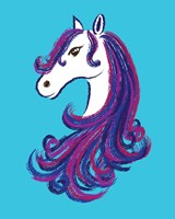 Horse - Blue Fine-Art Print