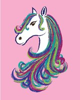 Horse - Pink Fine-Art Print