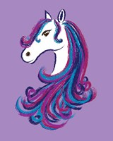 Horse - Purple Fine-Art Print