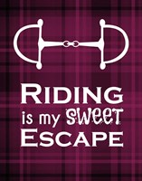 Riding is My Sweet Escape - Red Fine-Art Print