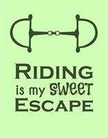 Riding is My Sweet Escape - Lime Fine-Art Print
