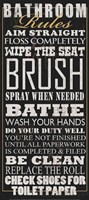 Bathroom Rules (Black) Fine-Art Print