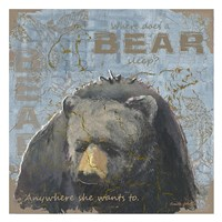 Where Does a Bear Sleep Fine-Art Print