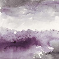 Midnight at the Lake II Amethyst and Grey Fine-Art Print
