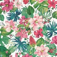 Tropical Dream Bright on White Fine-Art Print