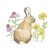 Wildflower Bunnies I Sq Fine-Art Print