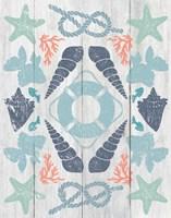 Coastal Otomi II on Wood Fine-Art Print