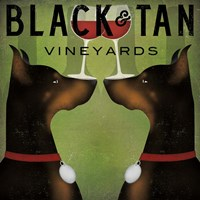 Black and Tan Vineyards Fine-Art Print