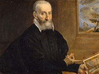 Portrait of Giulio Clovio Holding the Farnese Hours Fine-Art Print
