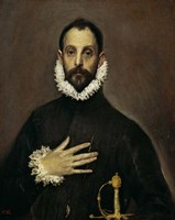 Nobleman with his Hand on his Chest, c. 1577-1584 Fine-Art Print