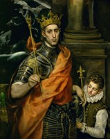 Saint Louis, King of France, and a Pageboy Fine-Art Print