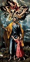 Saint Joseph and the Christ Child Fine-Art Print