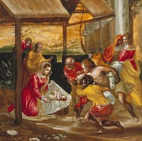 Adoration of the Shepherds (manger scene) Fine-Art Print