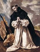 St Dominic in Prayer Fine-Art Print