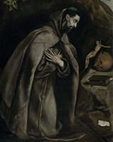 Saint Francis in Prayer Before a Crucifix, c. 1590 Fine-Art Print