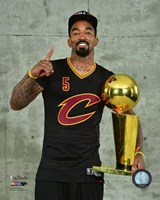 J.R. Smith with the NBA Championship Trophy Game 7 of the 2016 NBA Finals Fine-Art Print