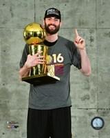 Kevin Love with the NBA Championship Trophy Game 7 of the 2016 NBA Finals Fine-Art Print