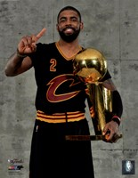 Kyrie Irving with the NBA Championship Trophy Game 7 of the 2016 NBA Finals Fine-Art Print