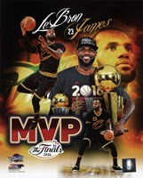 Lebron James 2016 NBA Finals MVP Portrait Plus Fine-Art Print