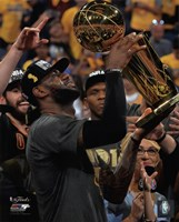 Lebron James with the NBA Championship Trophy Game 7 of the 2016 NBA Finals Fine-Art Print