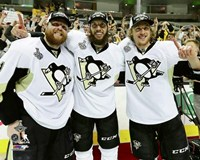 Phil Kessel, Nick Bonino, & Carl Hagelin Game 6 of the 2016 Stanley Cup Finals Fine-Art Print