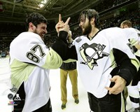 Sidney Crosby & Kris Letang Game 6 of the 2016 Stanley Cup Finals Fine-Art Print