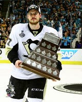 Sidney Crosby with Conn Smythe Trophy Game 6 of the 2016 Stanley Cup Finals Fine-Art Print