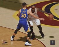 Stephen Curry & Lebron James Game 3 of the 2016 NBA Finals Fine-Art Print