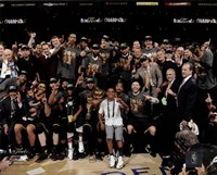 The Cleveland Cavaliers celebrate winning Game 7 of the 2016 NBA Finals Fine-Art Print
