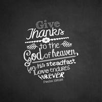 Psalm 136:26, Give Thanks (Chalkboard) Fine-Art Print