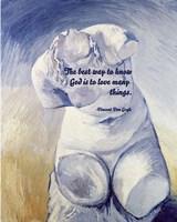 Know God - Van Gogh Quote 2 Fine-Art Print