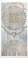 Indigo Mandala I - Metallic Foil Fine-Art Print