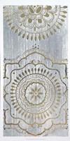 Indigo Mandala II - Metallic Foil Fine-Art Print