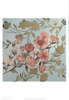 Golden Cherry Blossoms I - Metallic Foil Fine-Art Print