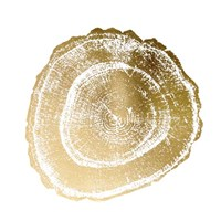 Gold Foil Tree Ring III - Metallic Foil Fine-Art Print