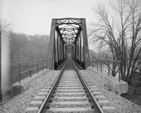 VIEW NORTHEAST OF WEST END OF BRIDGE. - Joshua Falls Bridge, Spanning James River at CSX Railroad Fine-Art Print