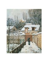 Snow at Louveciennes, 1874 Fine-Art Print