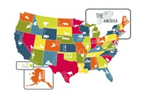 USA Map (bright) Fine-Art Print
