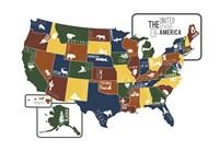 USA Map Fine-Art Print
