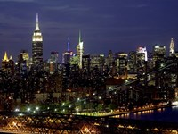 Midtown Manhattan at Night 1 Fine-Art Print